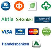 verkkomaksu - luottokortti - lasku